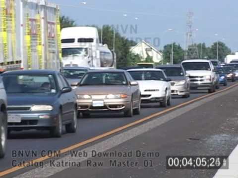 Katrina evacuation traffic on Interstate-10, August 28, 2005