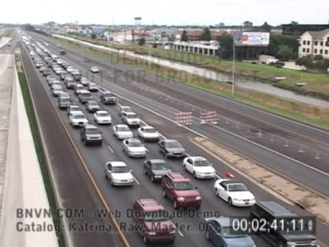 Katrina evacuation traffic on Interstate-10, August 28, 2005 c